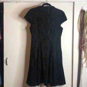 Eliza J dress black flock